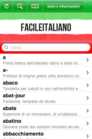 facile Italiano, il nuovo vocabolario di italiano per iPhone