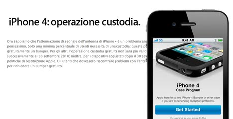 Bumper gratuito per iPhone 4: Apple continuera' a regalarlo solo agli utenti con evidenti problemi di ricezione