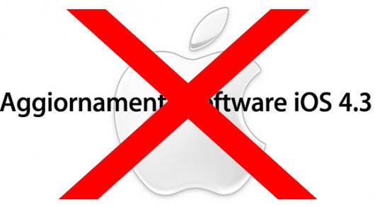 iOS 4.3 sara' probabilmente disponibile per il download solo nel 2011