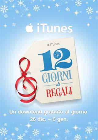 12 giorni di regali su iTunes