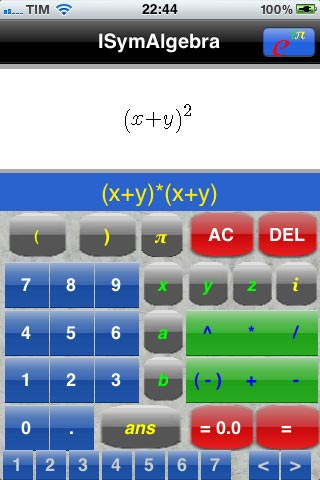 ISymAlgebra app iphone