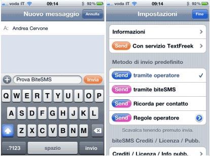 Applicazioni Cydia: Bite SMS nuova versione disponibile