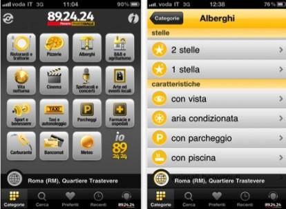 Il servizio 892424 su iPhone