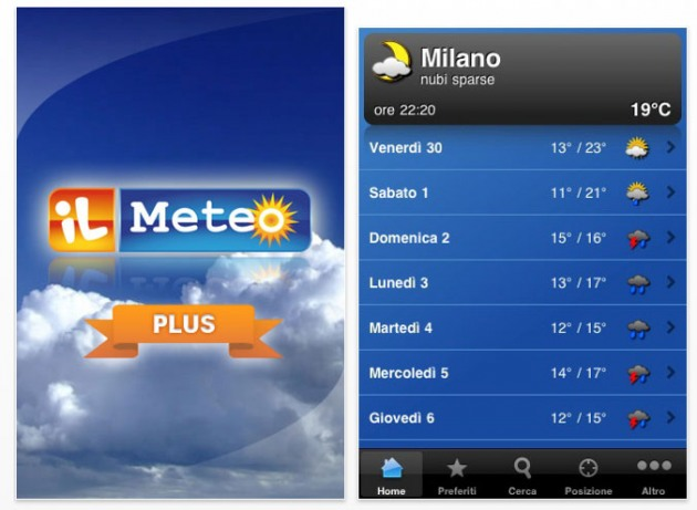 app meteo iphone