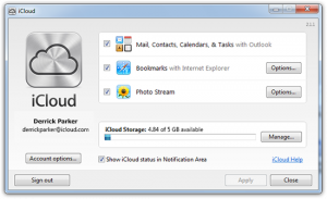 Apple aggiorna il Pannello di iCloud per Windows 8