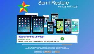 SemiRestore7: ripristinare iOS 7 e mantenere il Jailbreak dell'iPhone